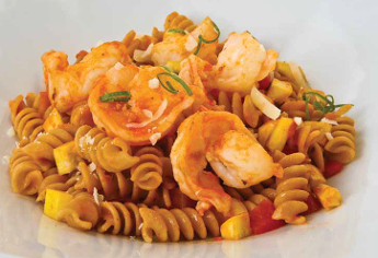 Curly Shrimp Pasta